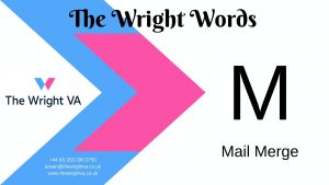 Read more about the article M for Mail Merge